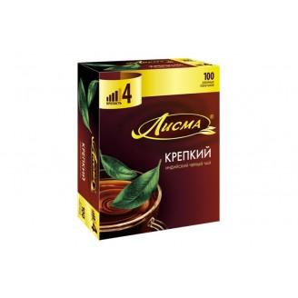 """Чай """"Лисма"""" черный (100 пакетов)"""