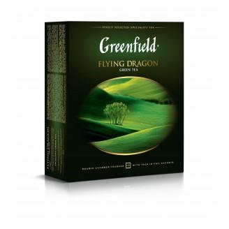 "Чай ""Greenfield"" Flying Dragon зеленый (100 пакетов)"