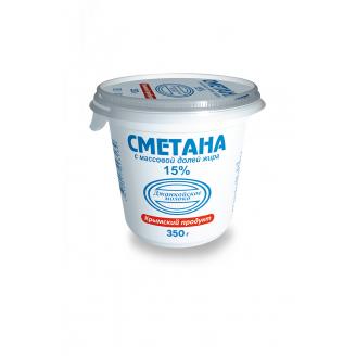 "Сметана 15% ""Джанкойское Молоко"" 350гр"