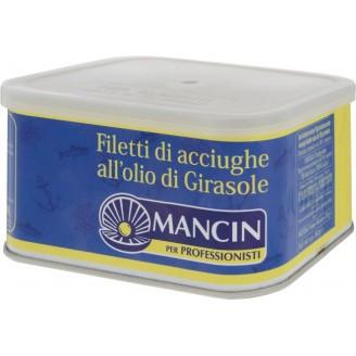 """Анчоусы (филе) в масле """"MANCIN"""" 600гр"""
