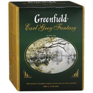 "Чай ""Greenfield"" Earl Grey с бергамотом (100 пакетов)"