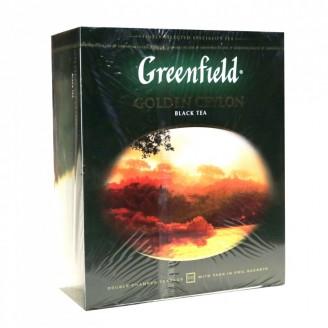 """Чай """"Greenfield"""" Golden Ceylon черный (100 пакетов)"""