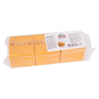 Сыр плавленый в ломтиках «Бистро Чеддар» (84 шт) 1кг