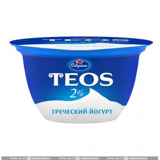 "Йогурт ""Teos"" Греческий 2% 250гр"